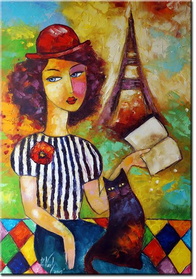 plakat kobieta z książką