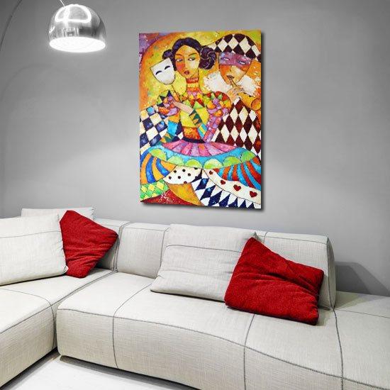 plakat jak malowany do sypialni