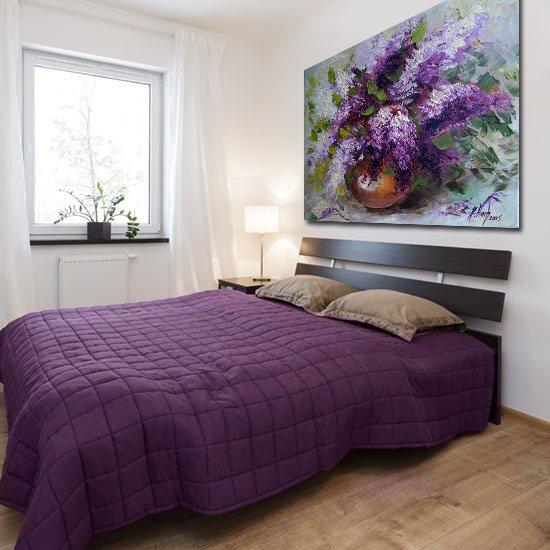 dekoracja do sypialni z bzami