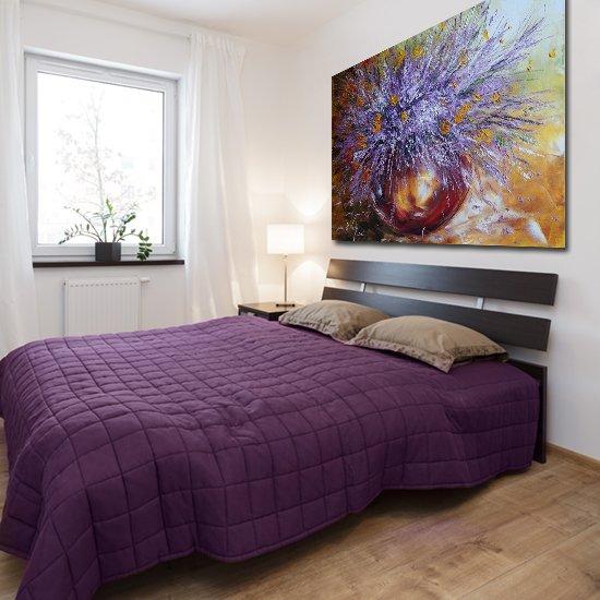 dekoracja fioletowa do sypialni