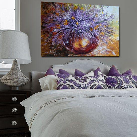 plakat jak malowany wazon z wrzosami