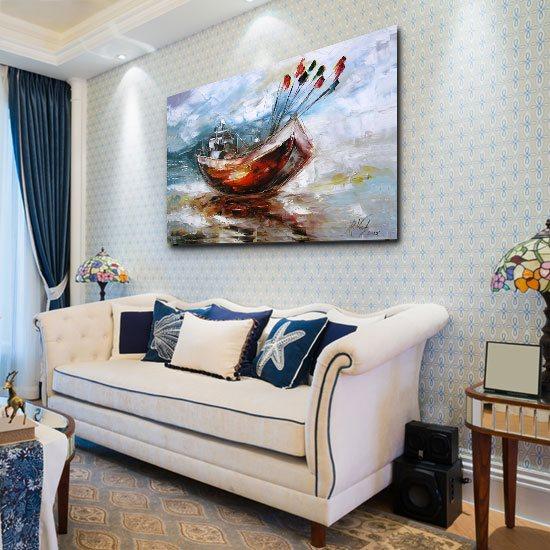 dekoracja jak malowana do salonu