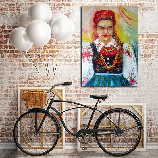 plakat dziewczyna z Łowicza