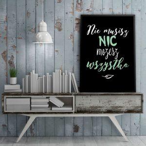 plakat z typografią