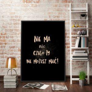 plakat z sentencją motywacyjną