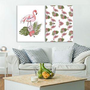 obraz dwuczęściowy z ptakami