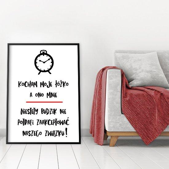 Plakat Kocham Moje łóżko