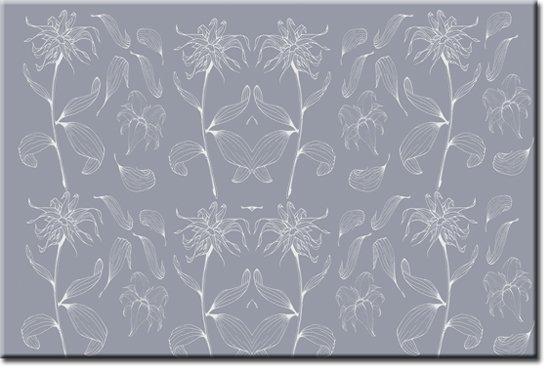 fototapety z siwymi kwiatami