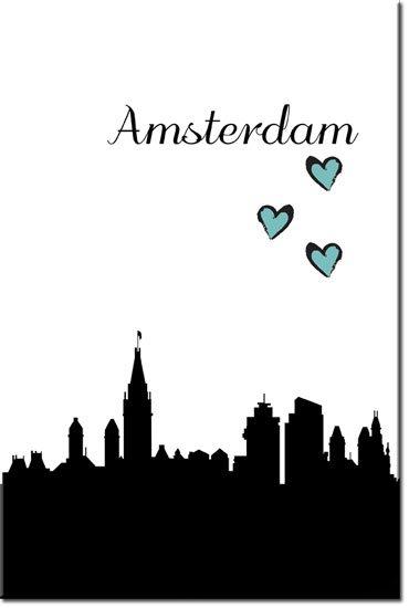 obrazy z amsterdamem
