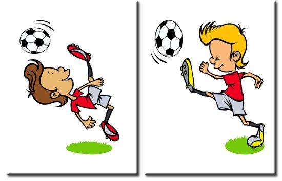 obrazy z piłkarzami