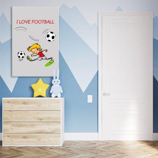 obrazy z futbolem