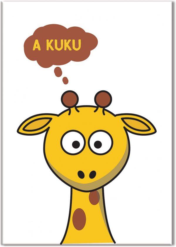 plakaty z żyrafą