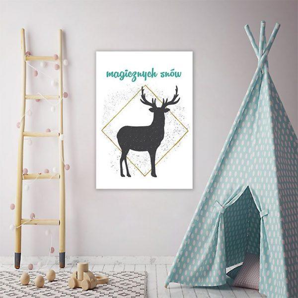 dekoracje z jeleniami