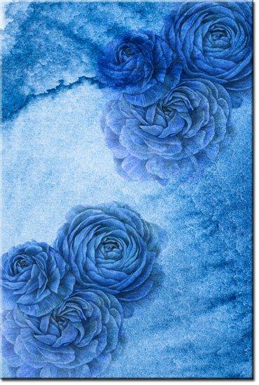 obrazy z niebieskimi kwiatami