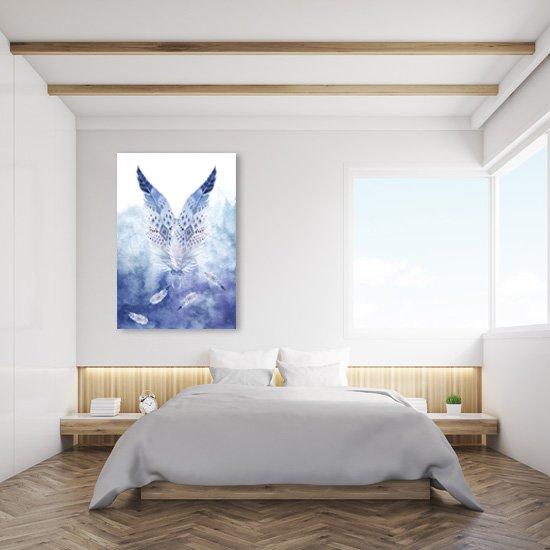 obraz z piórami
