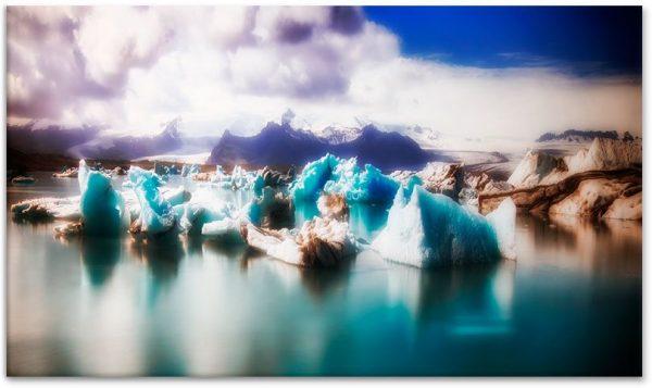 obraz z lodowcami