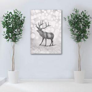 obraz z jeleniem