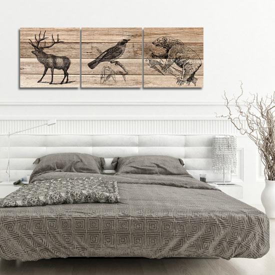tryptyk z jeleniem