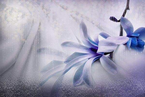 ozdoba ścian z mo9tywem kwiatowym
