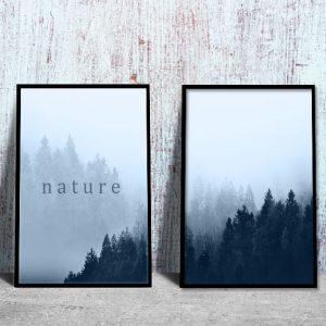 plakaty z drzewami