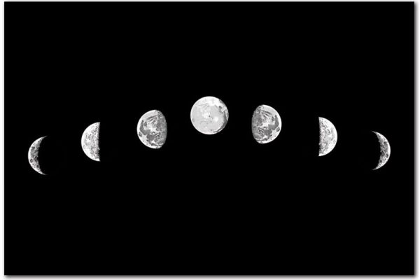 obrazty z fazami księżyca