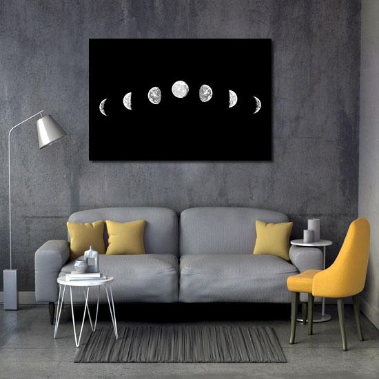 ozdoby z fazami księżycva