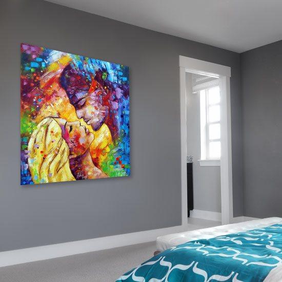 obraz kolorowa miłość