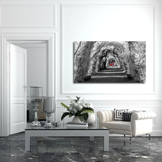 aleja drzewna - obraz do salonu