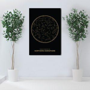 konstelacja gwiezdna na ścianę