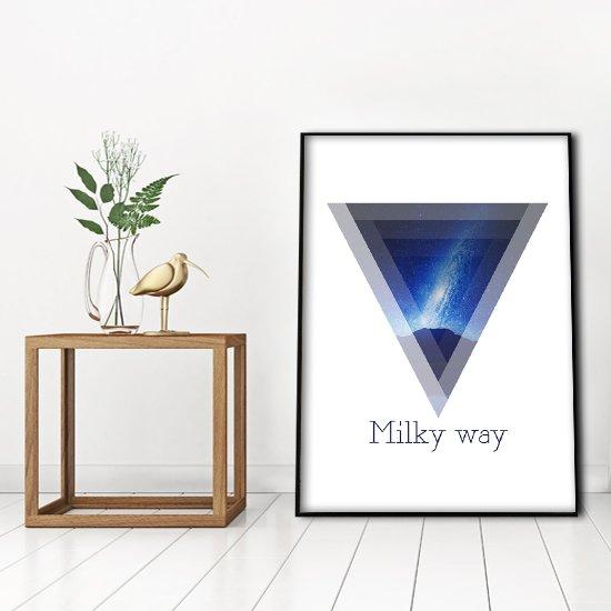 Droga mleczna - plakat w ramie na ścianę