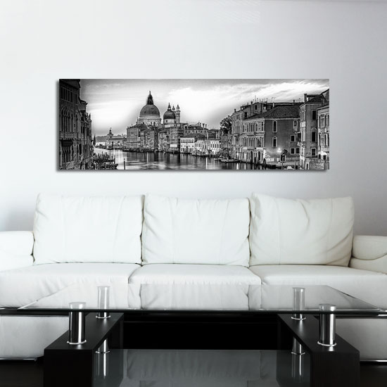 obraz - czarno-biała panorama miasta