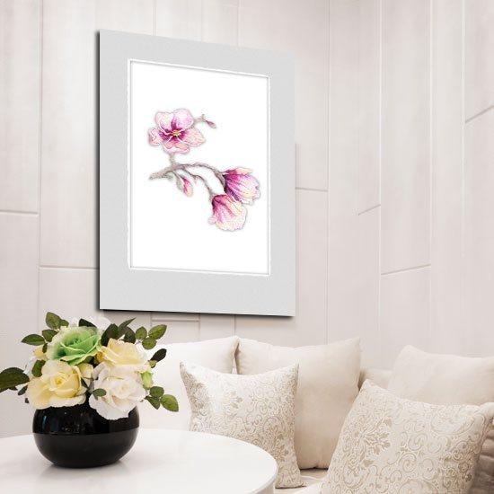 różowa magnolia - plakat w ramie