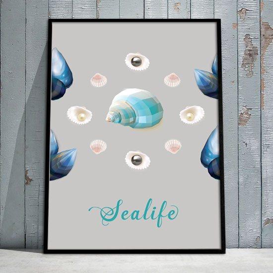Plakat Z Morskimi Motywami