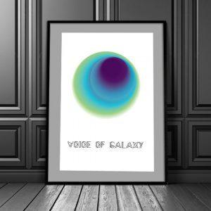 abstrakcyjny plakat do salonu lub biura