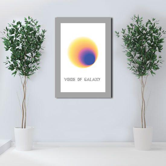 plakat w ramie z abstrakcją
