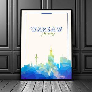 Warszawa - plakat na ścinę
