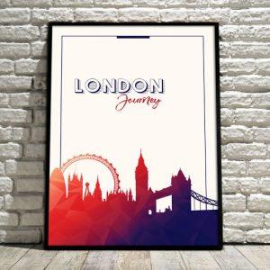 Plakat z ramą na ścianę - Londyn
