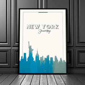 modny plakat na ścianę - Nowy Jork