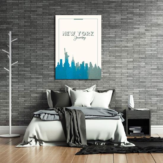 plakat na ścianę do salonu z motywem Nowego Jorku