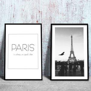 piękny plakat z motywem Paryża