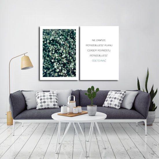stylowy plakat na ścianę do modnej sypialni
