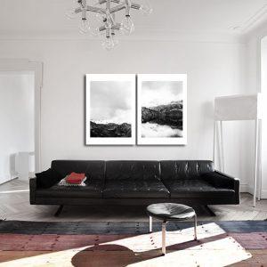 czarno-biały obraz na ścianę