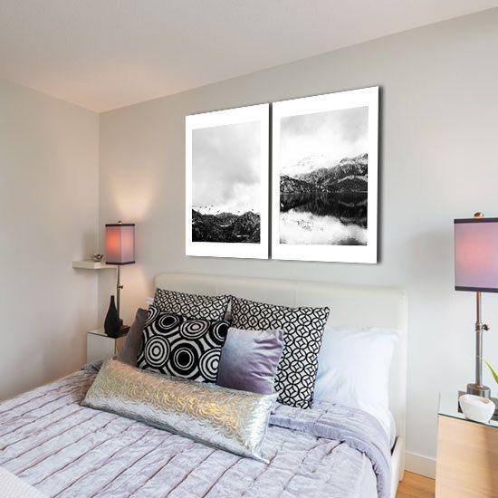 stylowy obraz do sypialni