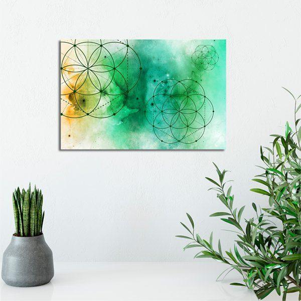 obrazy z zielenią