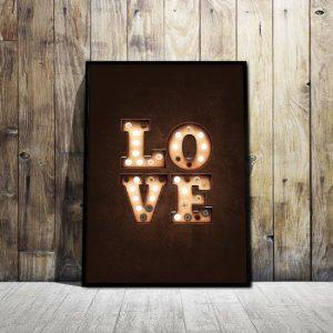 plakat miłość