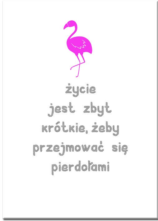 Plakat z ptakiem i napisem