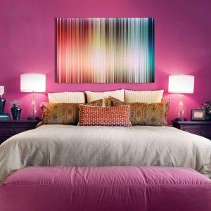 Obraz z kolorowym wzorem