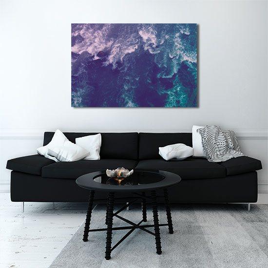 Obraz z morskimi falami