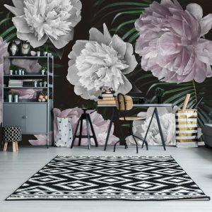 kwiaty i liście - na ścianę