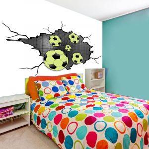Tapeta piłka w grze na ścianę